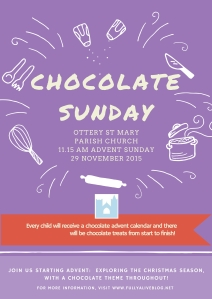 Chocolate Sunday flyer