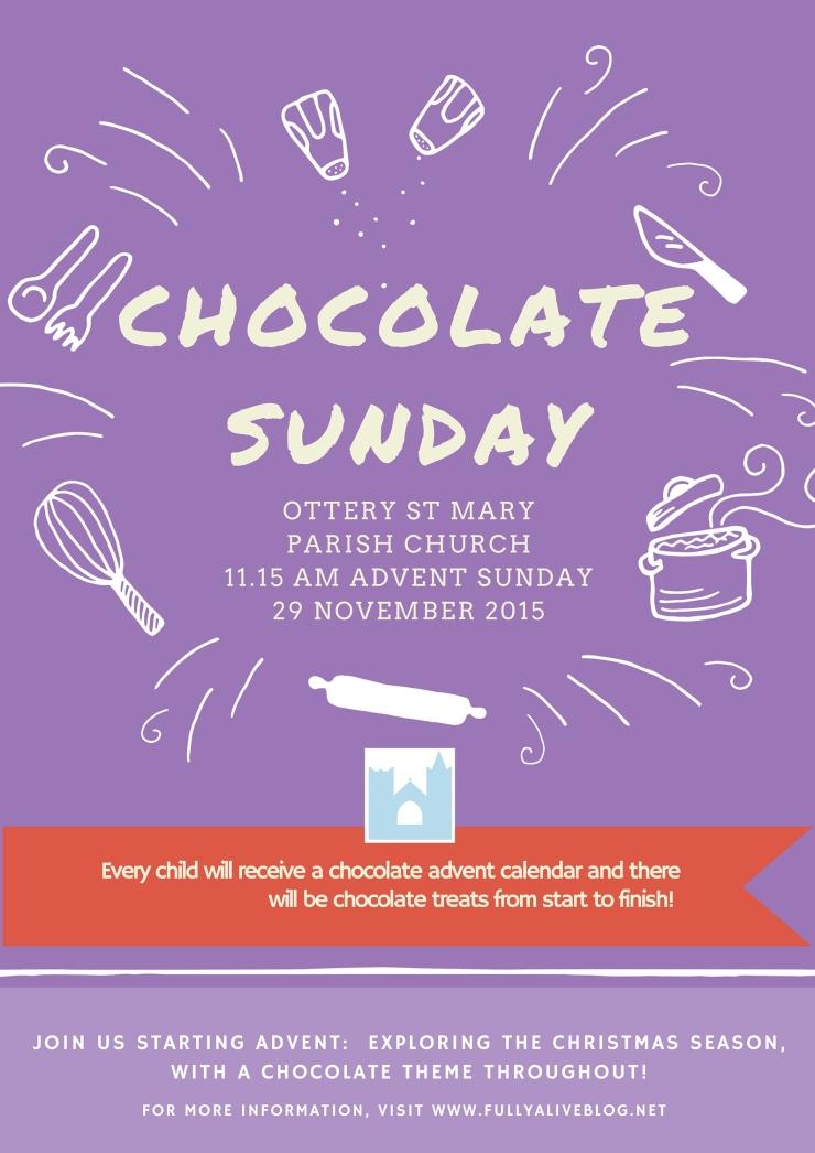 Chocolate Sunday flyer
