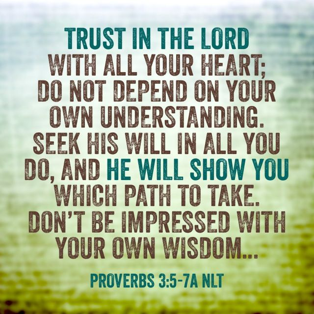 Inspiring Bible Quotes: Proverbs 3 Vv 5-7: Don't Be Impressed By Your Own Wisdom