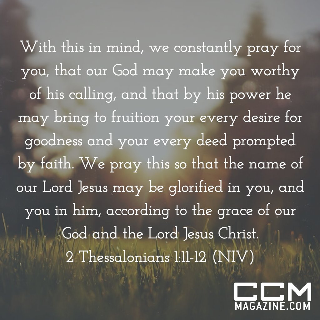 2 Thessalonians 1: Worthy of God's calling – When did you ...