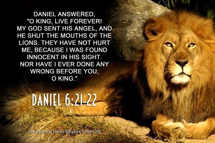 Daniel 6:  The Lions have not hurtme